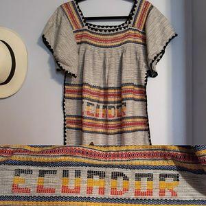 Ecuador Peasant Dress NWOT